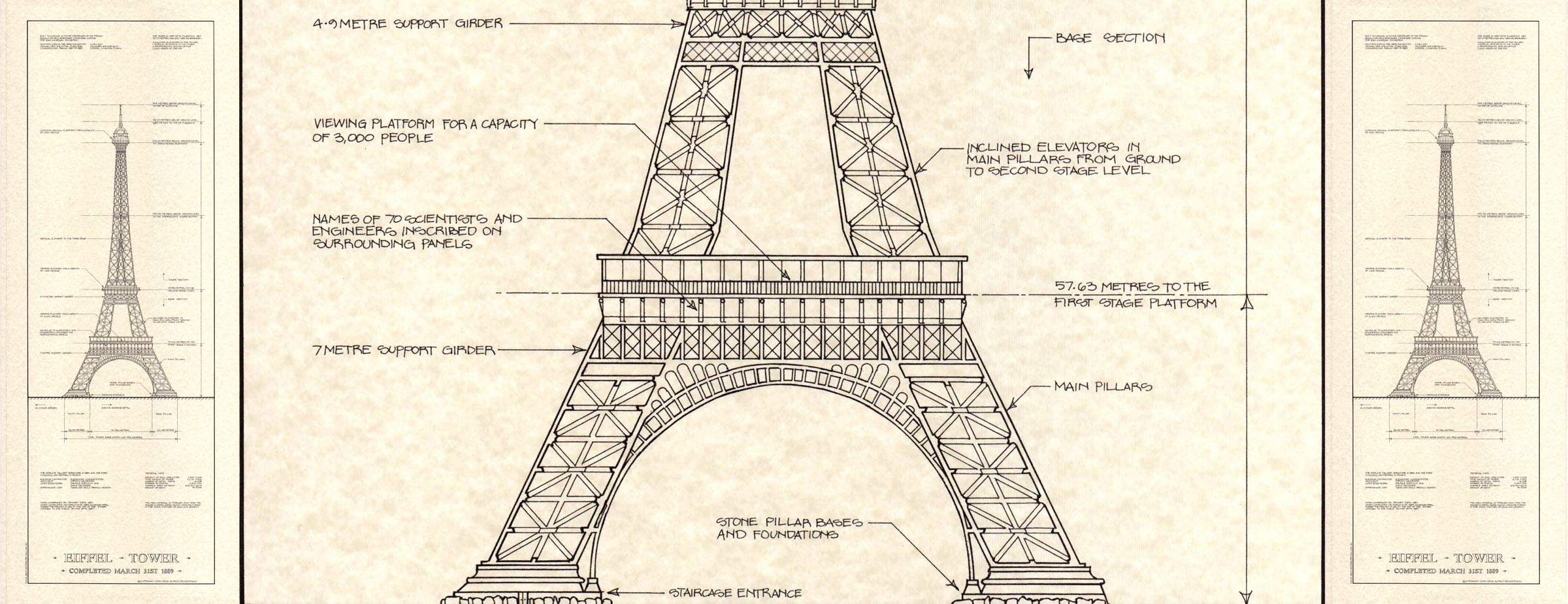 Eiffel towers and towers on pinterest for Print architectural drawings