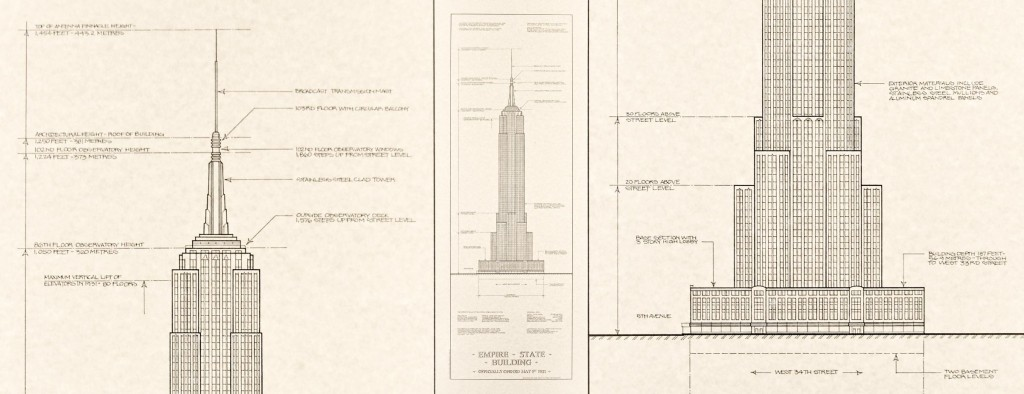 Empire State Building Architectural Prints