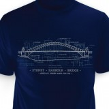 Sydney Harbour Bridge T-shirt - Navy